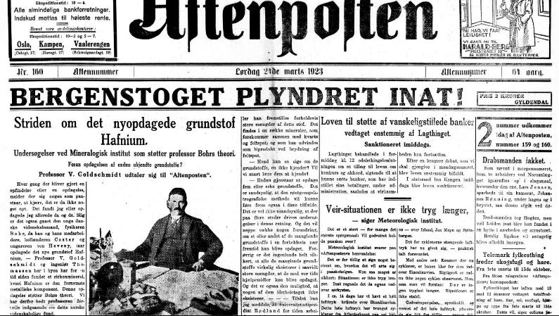 Aftenposten ad, 1923